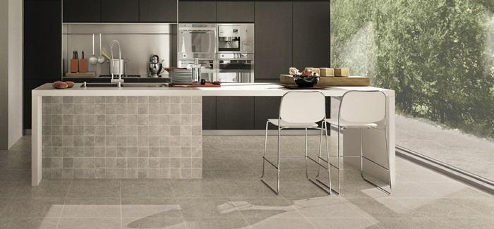 Promoties vloertegel natural 45 45 kleur black en grey gedimat bouwmaterialen - Italiaanse imitatie vloertegel ...
